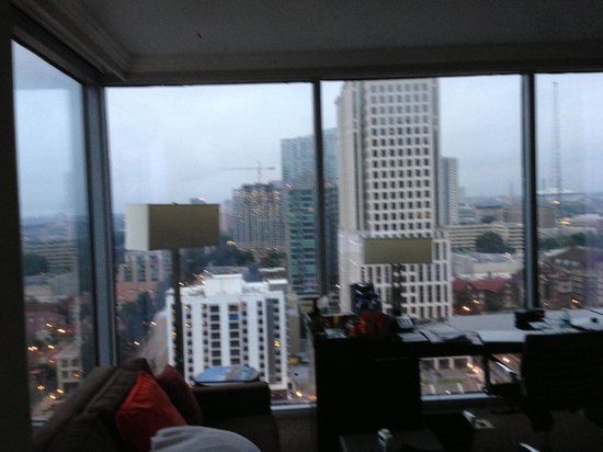 Loews Atlanta Hotel: the walls of windows in our room