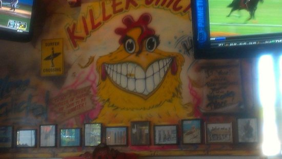 Chuy's Mesquite Broiler Restaurant: One of the walls the kids loved