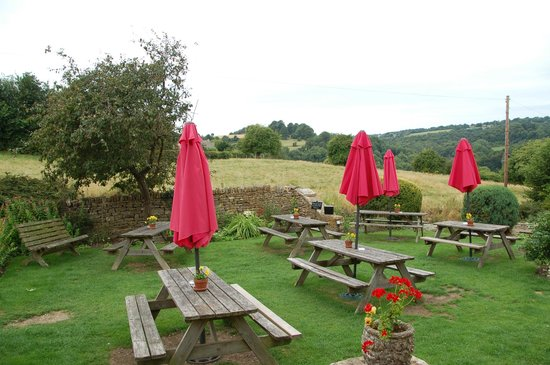 The Crown Inn: View from the garden