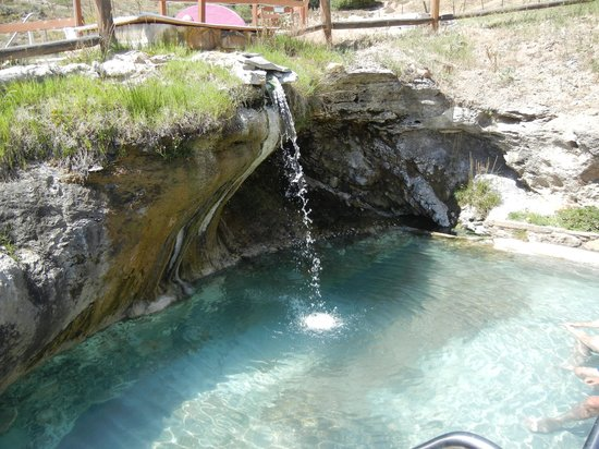Hot Sulphur Springs Resort & Spa: Pool with waterfall from source