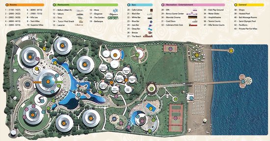 Calista Luxury Resort: Calista map