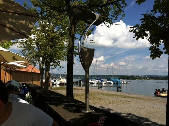 Schiff Hotel Restaurant Bar: Belle vue depuis la terrasse