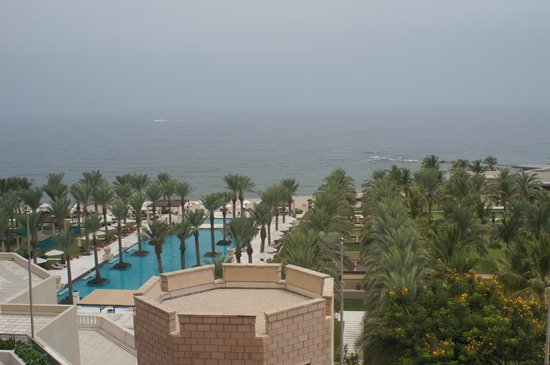 Al Bustan Palace, A Ritz-Carlton Hotel: From our balcony, to the Gulf of oman