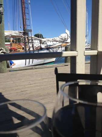 Graffam Bros Harborside Restaurant: view from corner table.