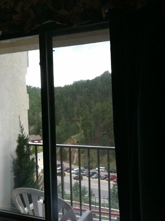 Mt. Rushmore's President View Resort: Twenty bucks extra for the view of Mt. Rushmore...
