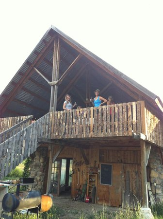 Awe-Struck Outdoors-Day Tours: another view of the barn where we ate