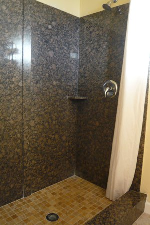Aloha Inn: Shower, king room