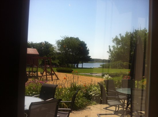 Tidewater Inn: view from inside restaurant