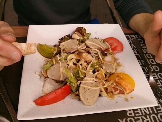 Bistrot des Barrières : entrée du jour salade aux 5 tomates