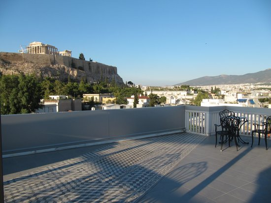 Acropolis View Hotel: terasse and view to the acropolise