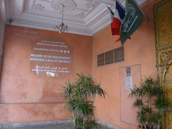 Moroccan House Hotel Casablanca: entrance