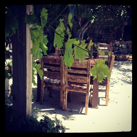 Baladna Caffe: Outdoor terrace