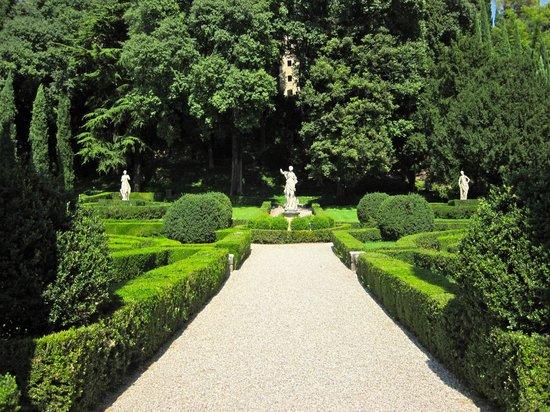 Сад giardino giusti Верона Италия Стоковое Фото изображение