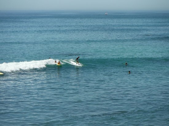 Cabo Surf Hotel : My son hanging 5.