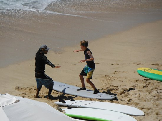 Cabo Surf Hotel : Start of the surf lesson.