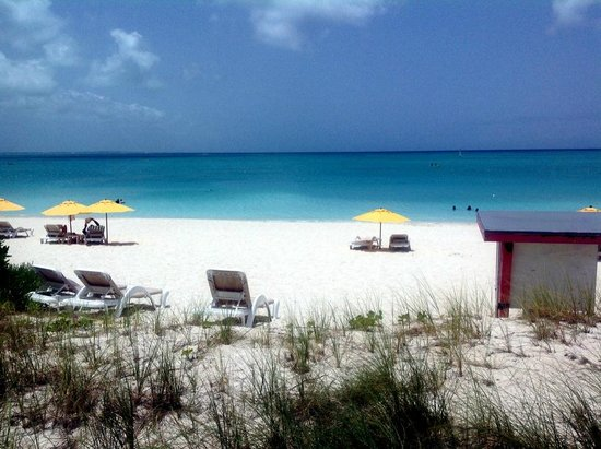 The Sands at Grace Bay: view from Hemingway's restaurant, onsite the Sands