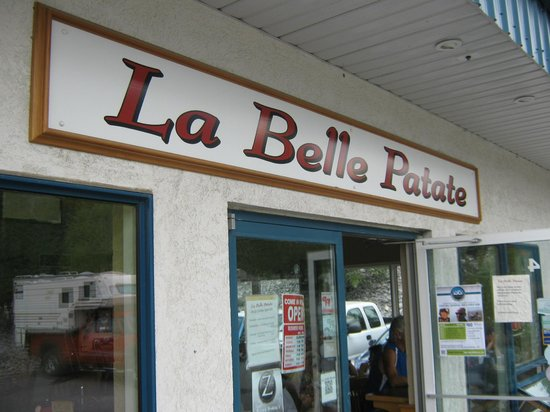 La Belle Patate sign on the building