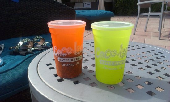 Coco Key Hotel and Water Park Resort: $10.00 unlimited fill cup.s while there(from complex shop)