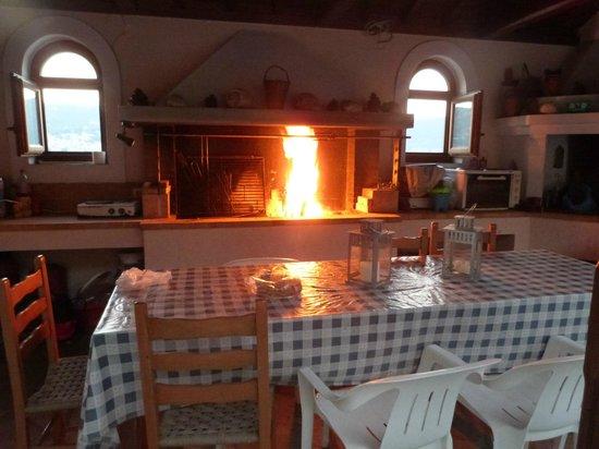 Evlalia Apartments : Steaks grilled on wood