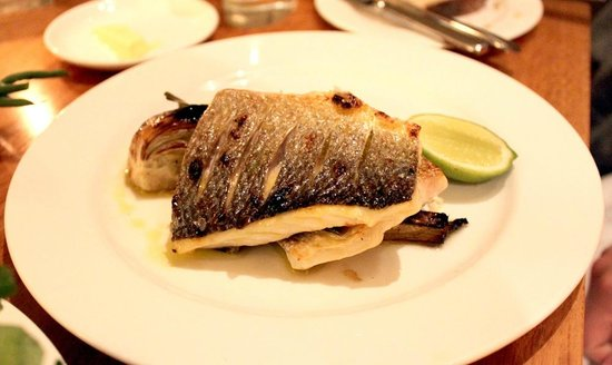 The Circus Restaurant: Grilled sea bass