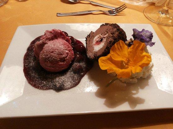 Tanne, Germany: Dessert beim Abendessen
