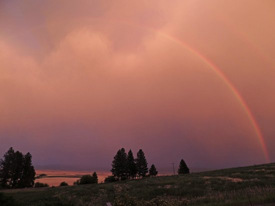 Inn at St. Gertrude: And one evening a stunning rainbow for an extra special blessing
