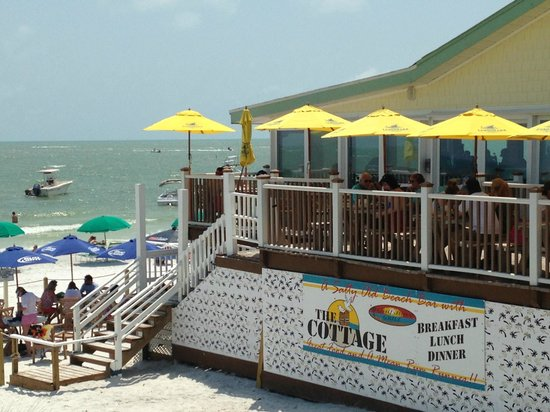 The Cottage Bar and Gulfshore Grill: The Cottage view from the beach