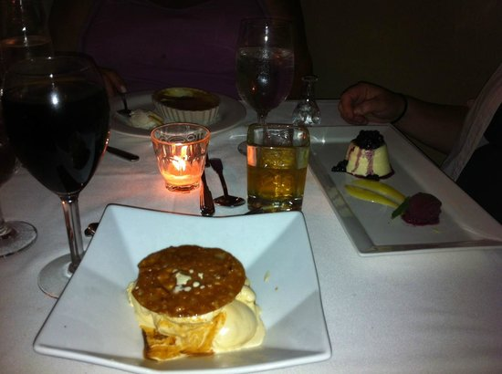 Back Bay Grill : Homemade ice cream and carmel bourbon sauce