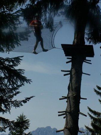 Crossing a net in the Hornpark