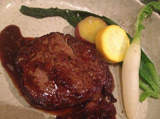 Akarinoyado Villa Revage: Steak for dinner - Tender!