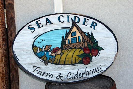 Sea Cider Farm & Ciderhouse: Sign as you enter
