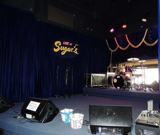 Sugar Ribs: A stage set up for live entertainment