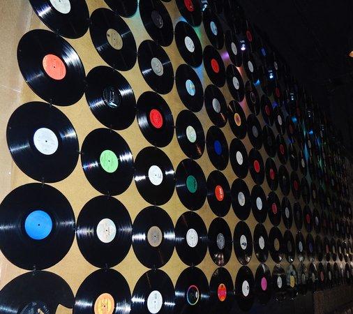 Sugar Ribs: a wall of old vinyl records