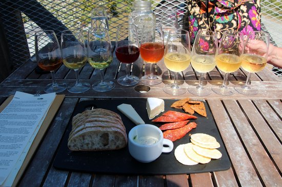 Sea Cider Farm & Ciderhouse: Full flight and meat/cheese plate