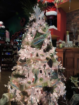 Santa Claus Christmas Store: One of the trees on display