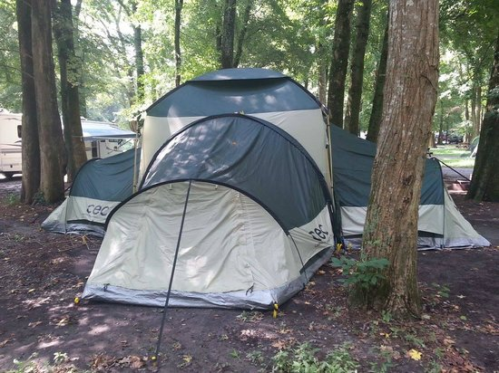 Fort Whaley Campground: Site for our tent