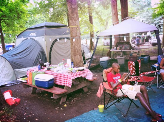 Fort Whaley Campground: our site all set up