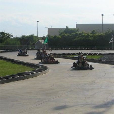 Island Adventures Family Fun Center : Twists, turns, curves, & banks!