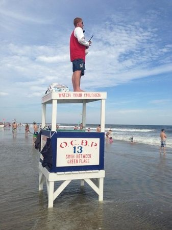 Ocean City Beach: keeping an eye on the surf