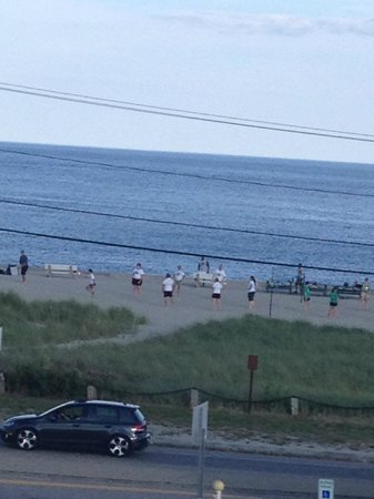 Windjammer By The Sea: View from room watching volleyball games