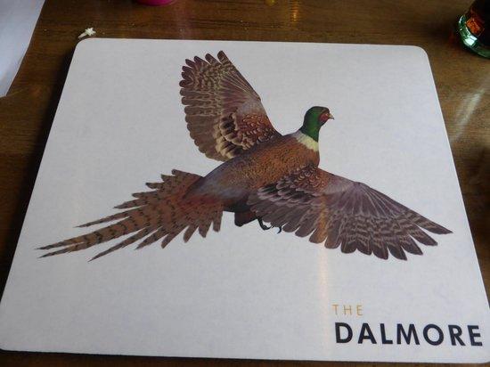 Dalmore Inn and Restaurant: Restaurant placemat