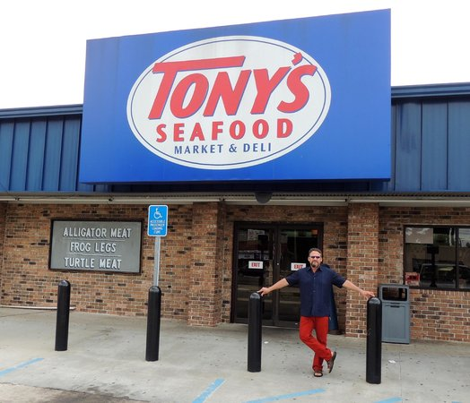 The front sign picture of tony 39 s seafood baton rouge for Tonys fish market