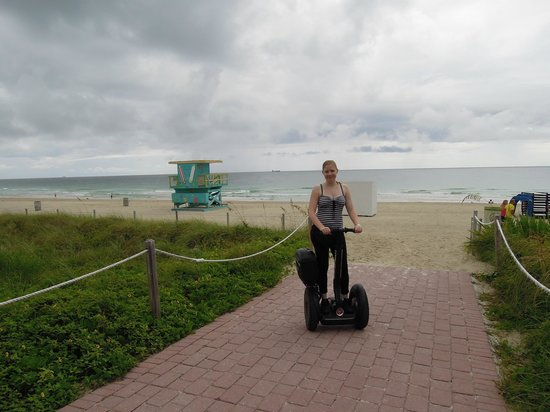 Segway South Beach: Morning in front of Life Guard Tower