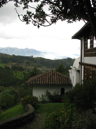 Casa Mojanda: View on our way to breakfast..