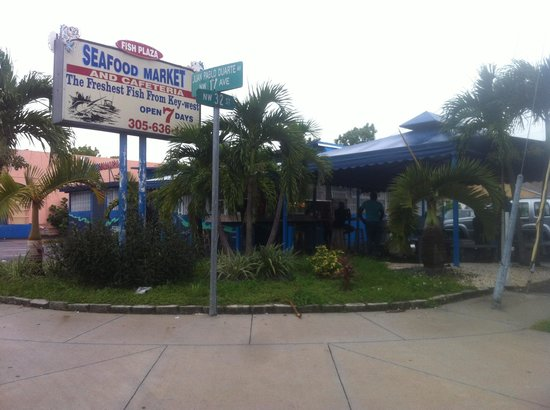Location picture of plaza seafood market miami for Fish market miami