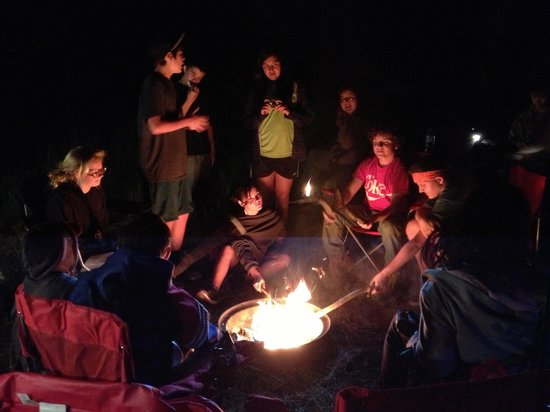 Kaibab Camper Village: Campfire fun at our group site!