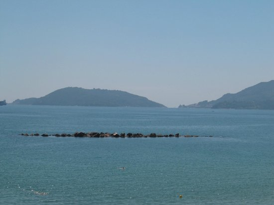 Hotel Florida Lerici: view from balcony, Portovenere in the background