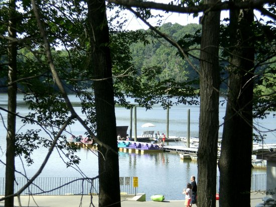 View of the boat ramp when hiking around Lake Needwood