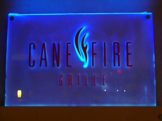 Cane Fire Grille: Sign
