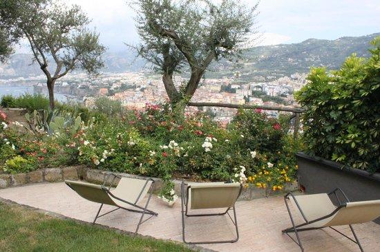 Hotel Bristol: View from Villa Bianca private patio
